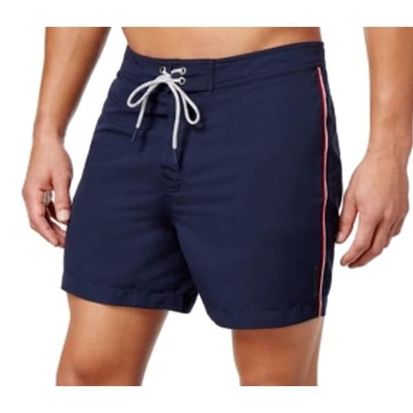 658cbb651b Shop Michael Kors NEW Blue Midnight Mens XL Striped Board Shorts Swimwear -  Free Shipping On Orders Over $45 - Overstock - 19564239