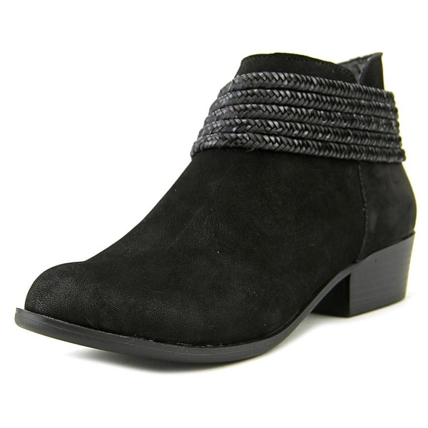 BCBGeneration Clayton Women  Round Toe Leather Black Ankle Boot