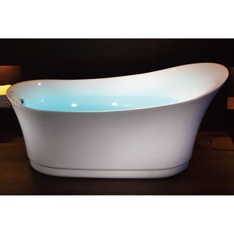 """Eago AM2140 68-7/8"""" Air Bathtub for Free Standing Installation"""