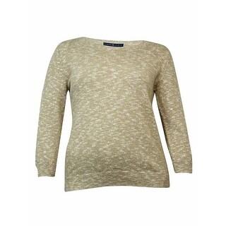 Karen Scott Women's 3/4 Sleeve Knit Sweater