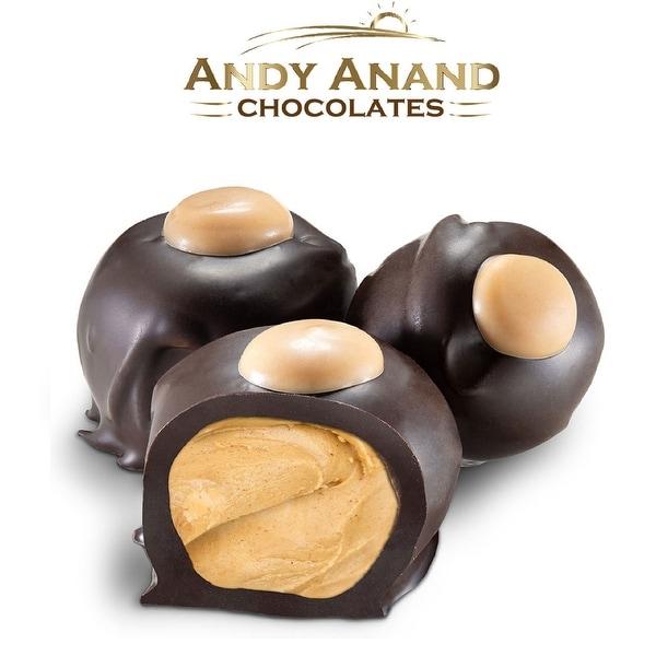 Andy Anand Dark Chocolate Peanut Butter Buckeyes Gift Box