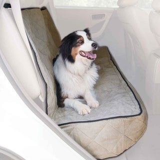 """K&H Pet Products Quilted Car Seat Cover Extra Long Tan 57"""" x 58"""" x 0.25"""""""