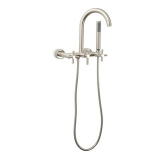 Giagni CWTF-C Contemporary Clawfoot Wall Mounted Tub Filler Faucet with Cross Ha