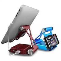 Podium Style 3 Pc Folding Gadget Stand with Built-In Power Bank