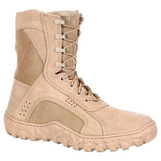 "Rocky Men's S2V 8"" Vented Military Duty Boot 105 Desert Tan"