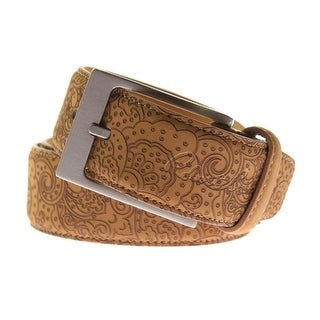 Robert Graham Mens Villa Borghese Leather Paisley Casual Belt