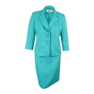 Le Suit Women's Yacht Club Jacquard Skirt Suit - 18