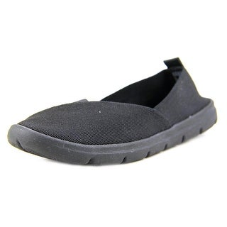 White Mountain Tustin Women Round Toe Canvas Black Flats
