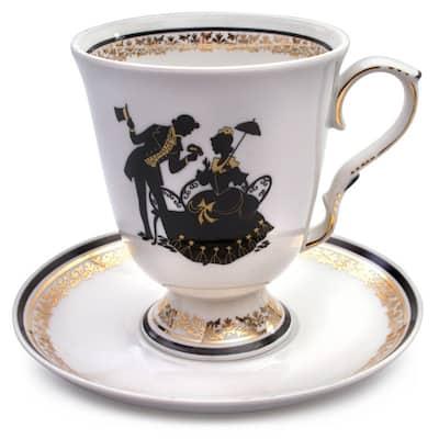 Silhouette Mug and Saucer set