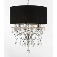 Silver Mist Crystal Drum Shade Chandelier Pendant Lighting