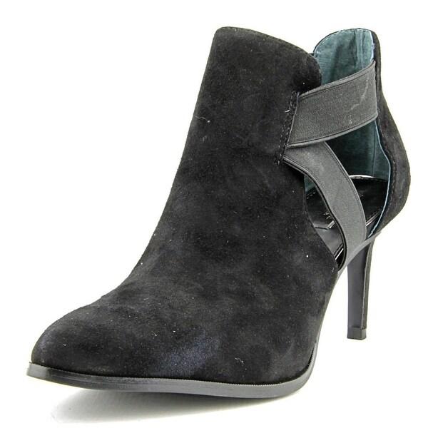 Alfani Ronja Women Pointed Toe Leather Black Bootie