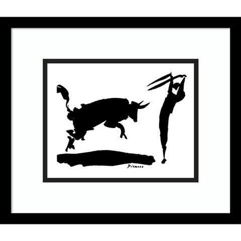 Porch & Den Pablo Picasso 'The Bullfight III' Framed Art Print