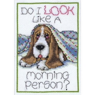 """Morning Dog Counted Cross Stitch Kit-5""""X7"""" 14 Count"""