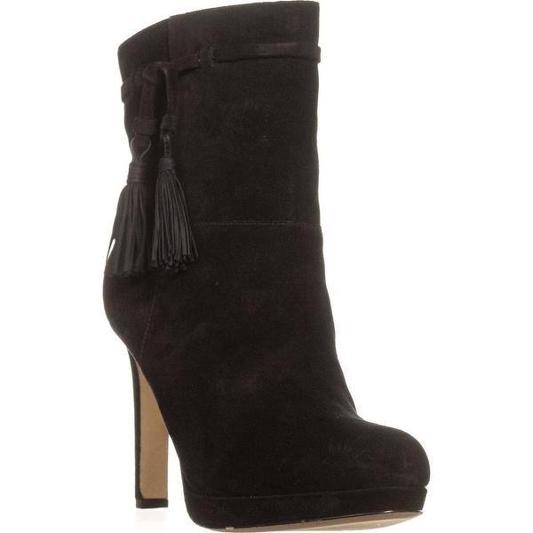 Via Spiga Bristol Pull On Tassel Ankle Boots, Black Suede - 10 us / 40 eu