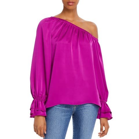 Ramy Brook Womens Top Off-The-Shoulder Ruffled - BRORC