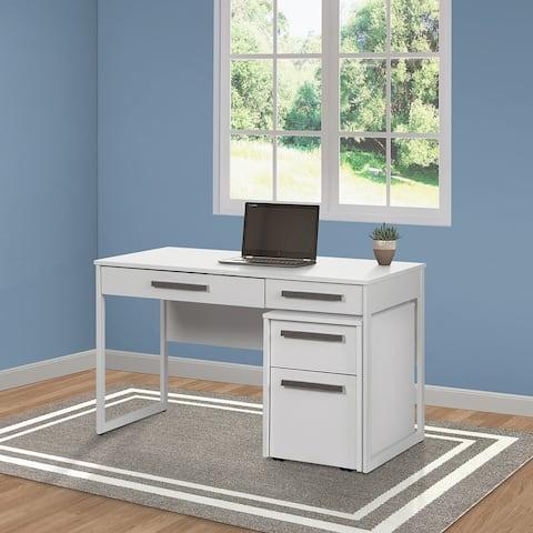 Ezequel Miami White Wood Grain 47-inch Writing Desk