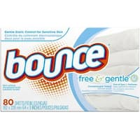 Bounce Free & Gentle Fabric Softener Dryer Sheets 80 ea