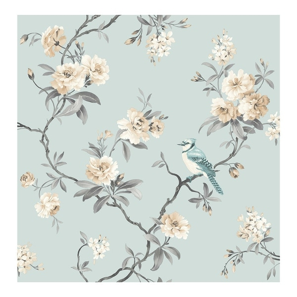 Chinoiserie Blue Floral Wallpaper - 20.5 x 396 x 0.025. Opens flyout.