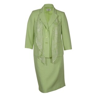 Le Suit Women's Buiness Suit Pant Set W/Scarf - pale crabapple