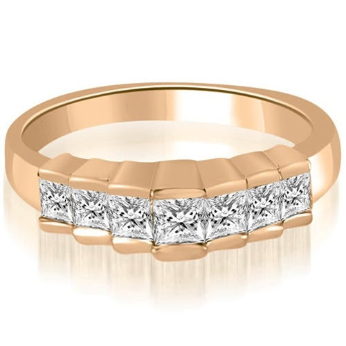 0.75 cttw. 14K Rose Gold Princess Cut Diamond Wedding Band