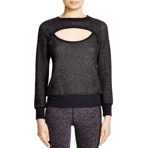 Koral Womens Pullover Sweater Cut-Out Long Sleeves