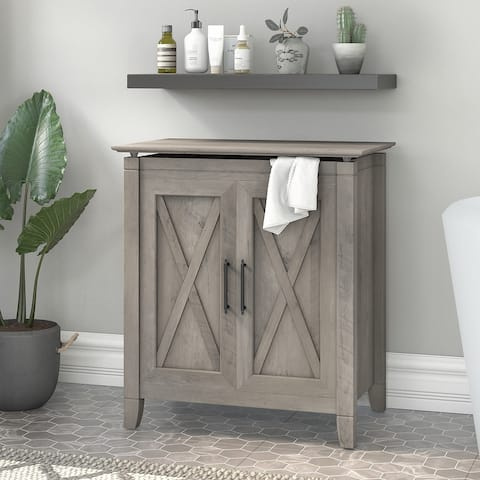 Key West Laundry Hamper with Lid and Liner Bag by Bush Furniture