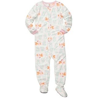 Carter's Little Girls' 1-piece Micro-fleece Pajamas (Youth 4, Owls) - multi