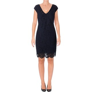 Lauren Ralph Lauren Womens Party Dress Fringe Lace