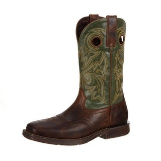 "Durango Western Boots Mens 12"" Rebel Pull On Leather Brown DDB0055"