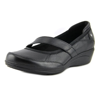 Hush Puppies Velma Oleena Women Round Toe Leather Black Mary Janes