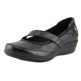 Hush Puppies Velma Oleena Women Round Toe Leather Black Loafer