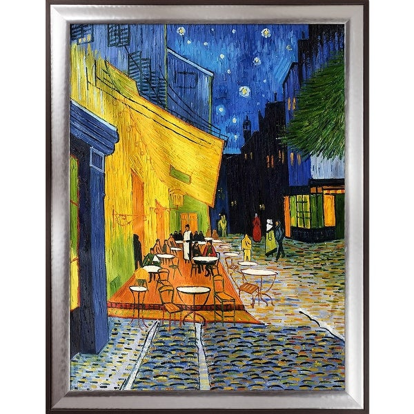 Vincent Van Gogh U0026#x27;Cafe Terrace At Nightu0026#x27; Hand Painted