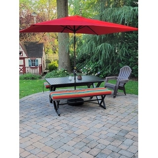 Rolando Outdoor Aluminum Dining Bench by Christopher Knight Home