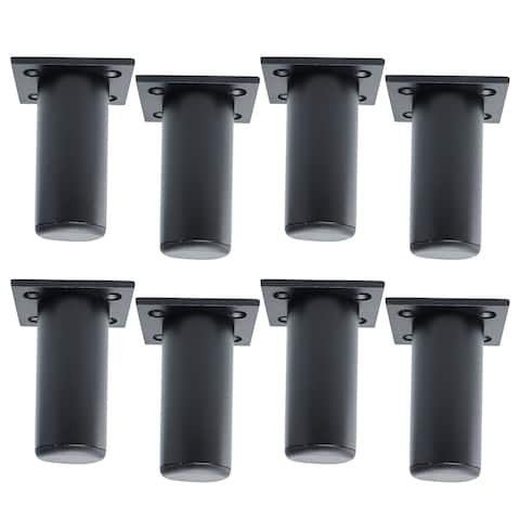 "3"" Furniture Legs Sofa Replacement Height Adjuster Black 8pcs"