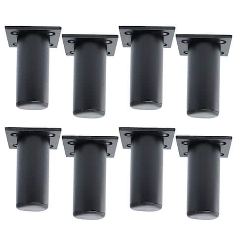 "3"" Furniture Legs Aluminium Alloy Sofa Replacement Height Adjuster 8pcs - Black - Height 8cm/3 Inch"
