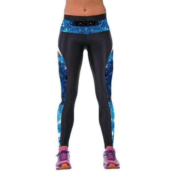 44e5b018fa8786 New Women's Galaxy Print Gym Running Yoga Pants High Rise Stretch  Leggings