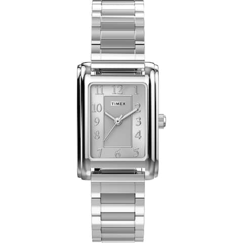 Timex Women's Meriden 21mm Watch - Silver-Tone with Expansion Band - One Size