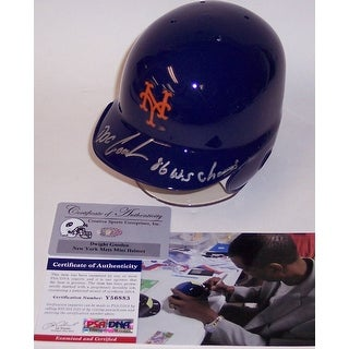 Dwight Gooden autographed Hand Signed NY New York Mets Mini Batting Helmet  PSADNA