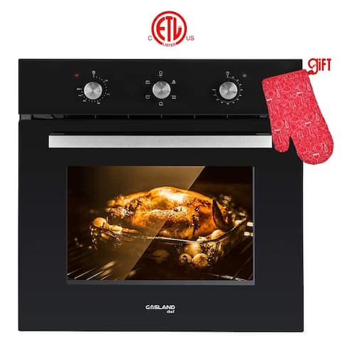 Gasland Chef 24'' Built-in Single Wall Oven, 6 Cooking Function, Black Glass Finish Electric Ovens, ETL Certified