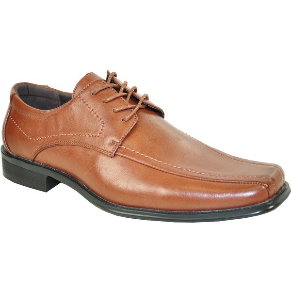 BRAVO Men Dress Shoe MONACO-3 Oxford Brown