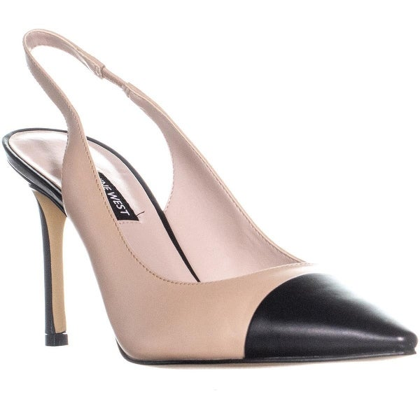 400cbb67197 Shop Nine West Exuberate Pointed Toe Slingback Heels, Light Natural ...