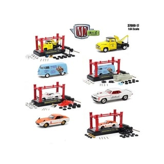 Model Kit 4 pieces Set Release 17 1/64 Diecast Model Cars by M2 Machines