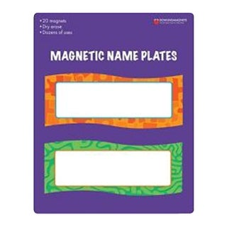 Dowling Magnets Dry Erase Magnetic Name Plates, 2 x 6 Inches, 20 pieces