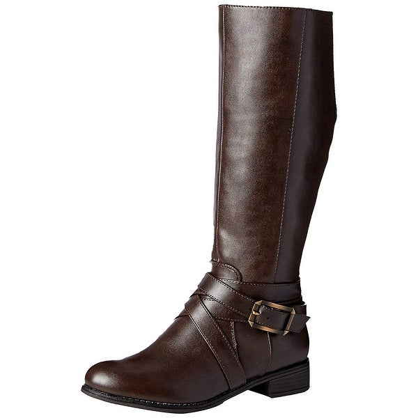 LifeStride Womens SUBTLE Round Toe Knee High Riding Boots