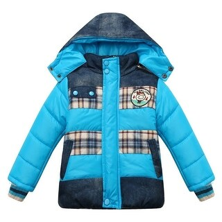 Richie House Little Boys Yellow Detachable Hood Padding Jacket 2-6