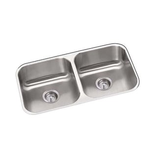 "Proflo PFUC208 31-1/4"" Double Basin Undermount Stainless Steel Kitchen Sink"