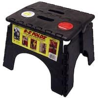 """B & R Plastics 101-6BK E-Z Folding Step Stool, 9"""", Plastic"""
