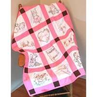 """Baby Cowgirls - Stamped Baby Quilt Blocks 9""""X9"""" 12/Pkg"""