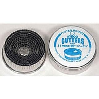 Ateco 5207 Graduated Crinkle Cutters, Set/11