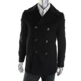 Acquaviva Mens Wool Blend Lined Pea Coat - 42R